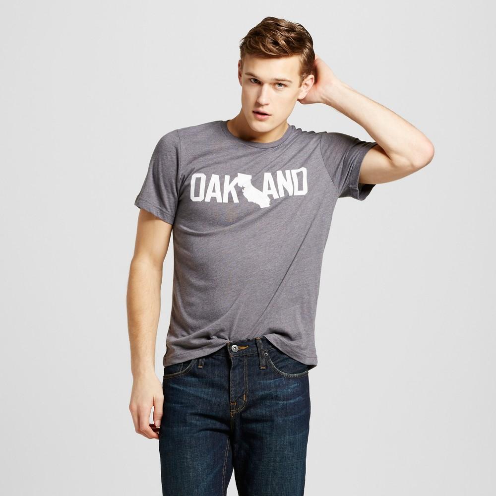Mens San Francisco Oakland T-Shirt M - Charcoal Gray