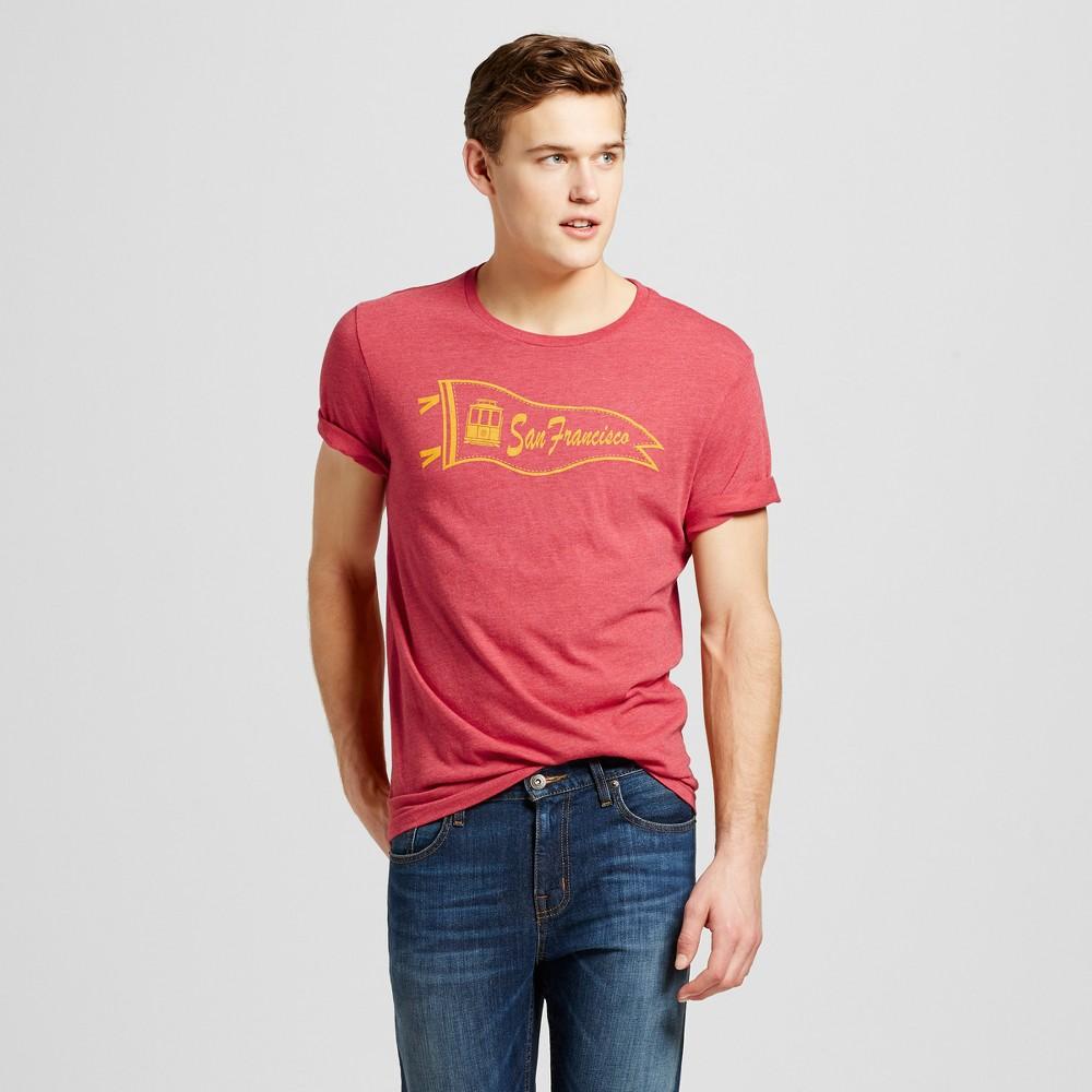 Mens San Francisco Pennant T-Shirt S - Red
