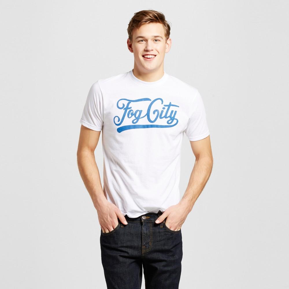 Mens San Francisco Fog City T-Shirt S - White