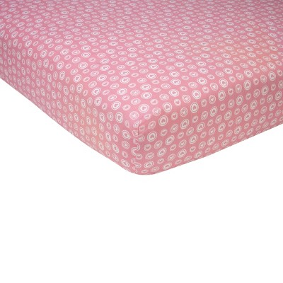 Sadie & Scout® Fitted Crib Sheet - Chelsea - Pink Heart