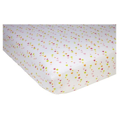 Sadie & Scout® Fitted Crib Sheet - Chelsea - Heart