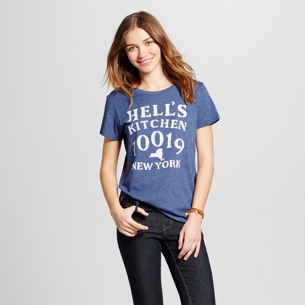 Womens New York Hells Kitchen T-Shirt M - Navy (Juniors), Blue
