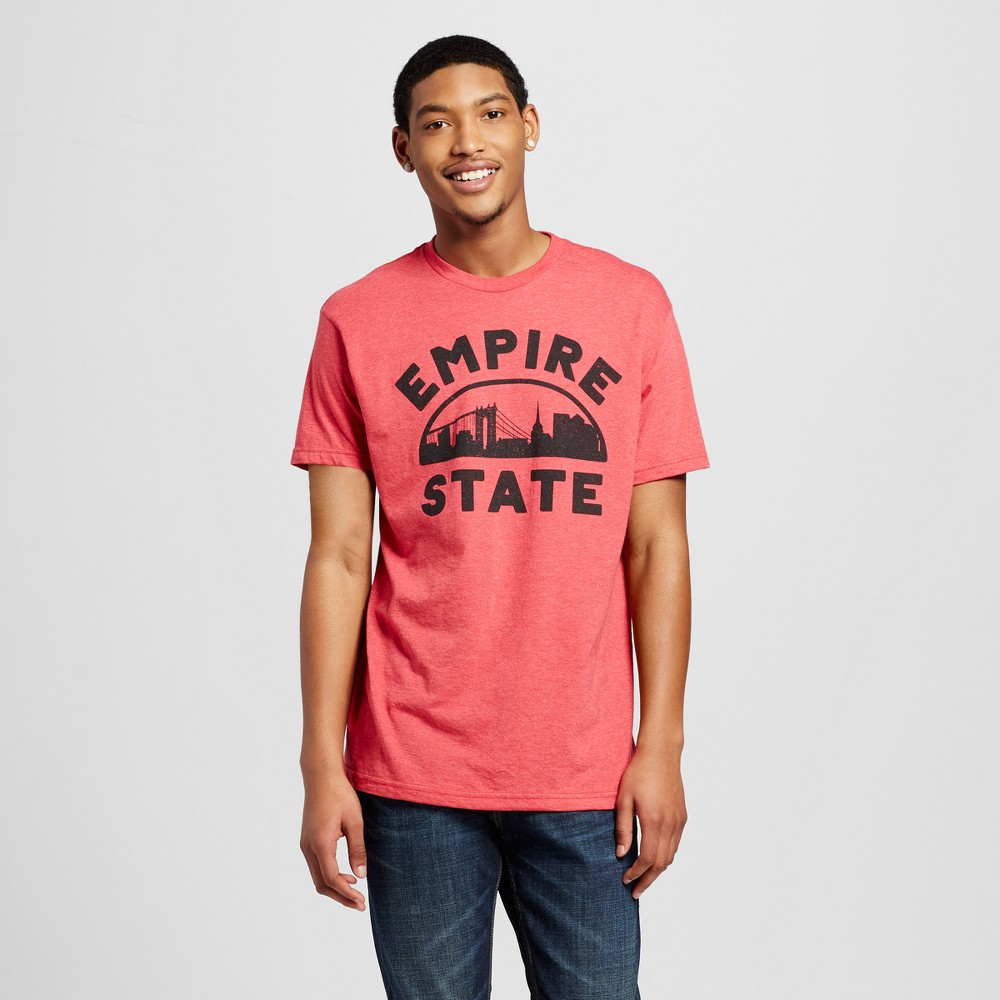 Mens New York Empire State T-Shirt XL - Red