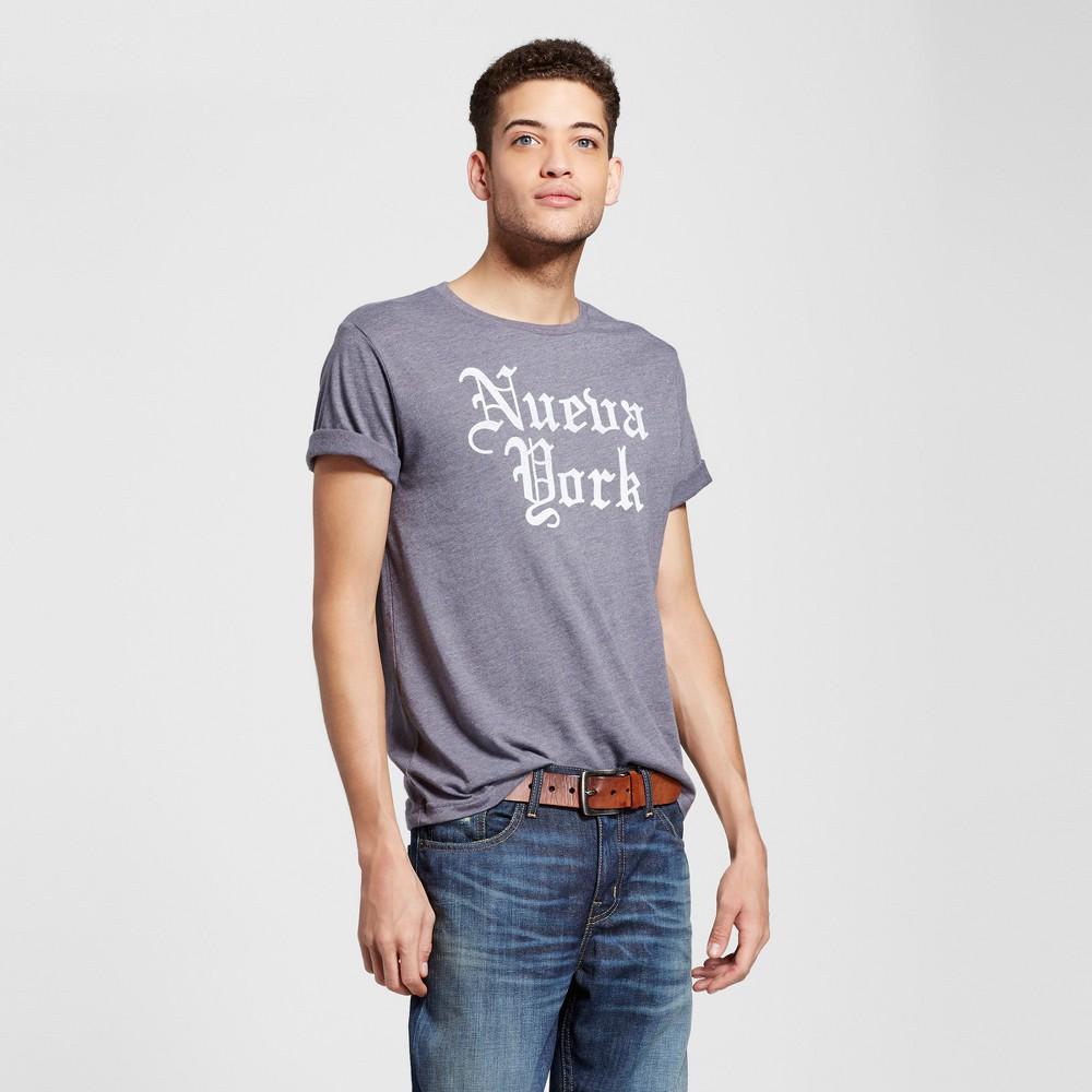 Mens New York Nueva York T-Shirt L - Charcoal Gray