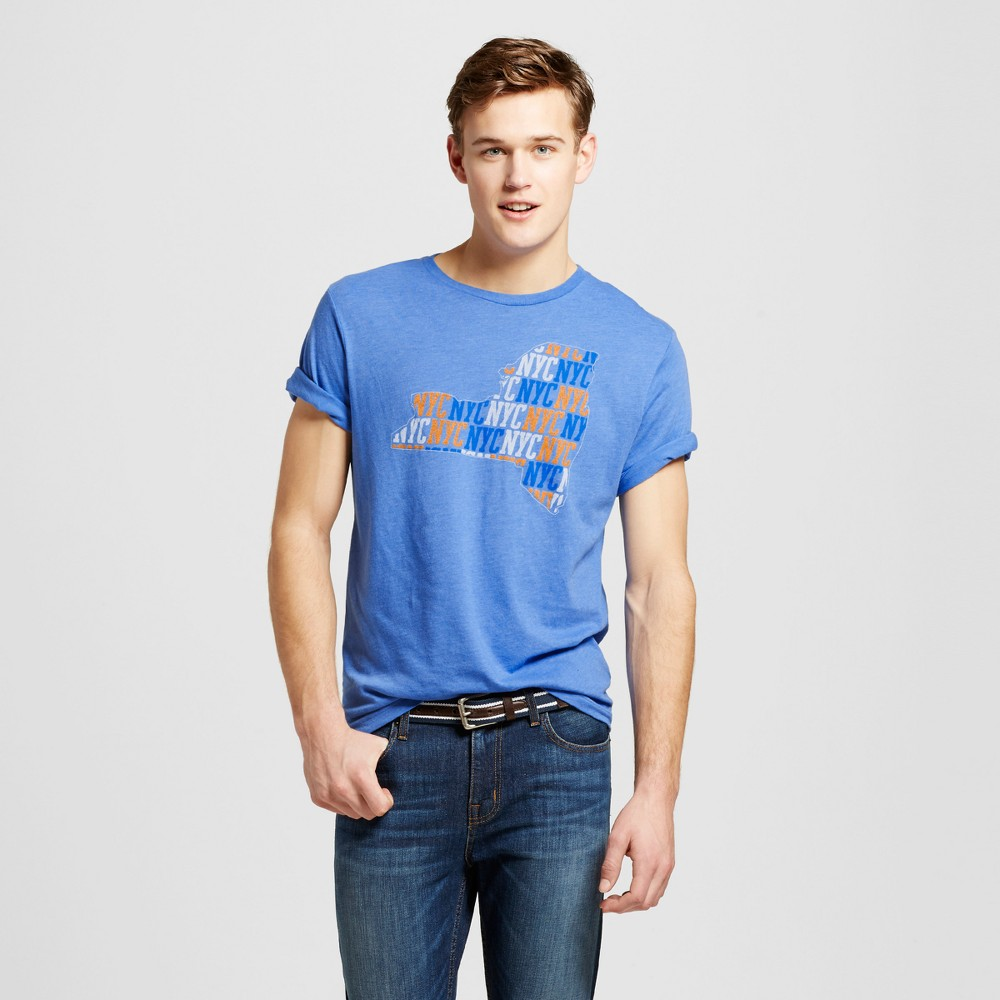 Mens New York All State T-Shirt XL - Blue