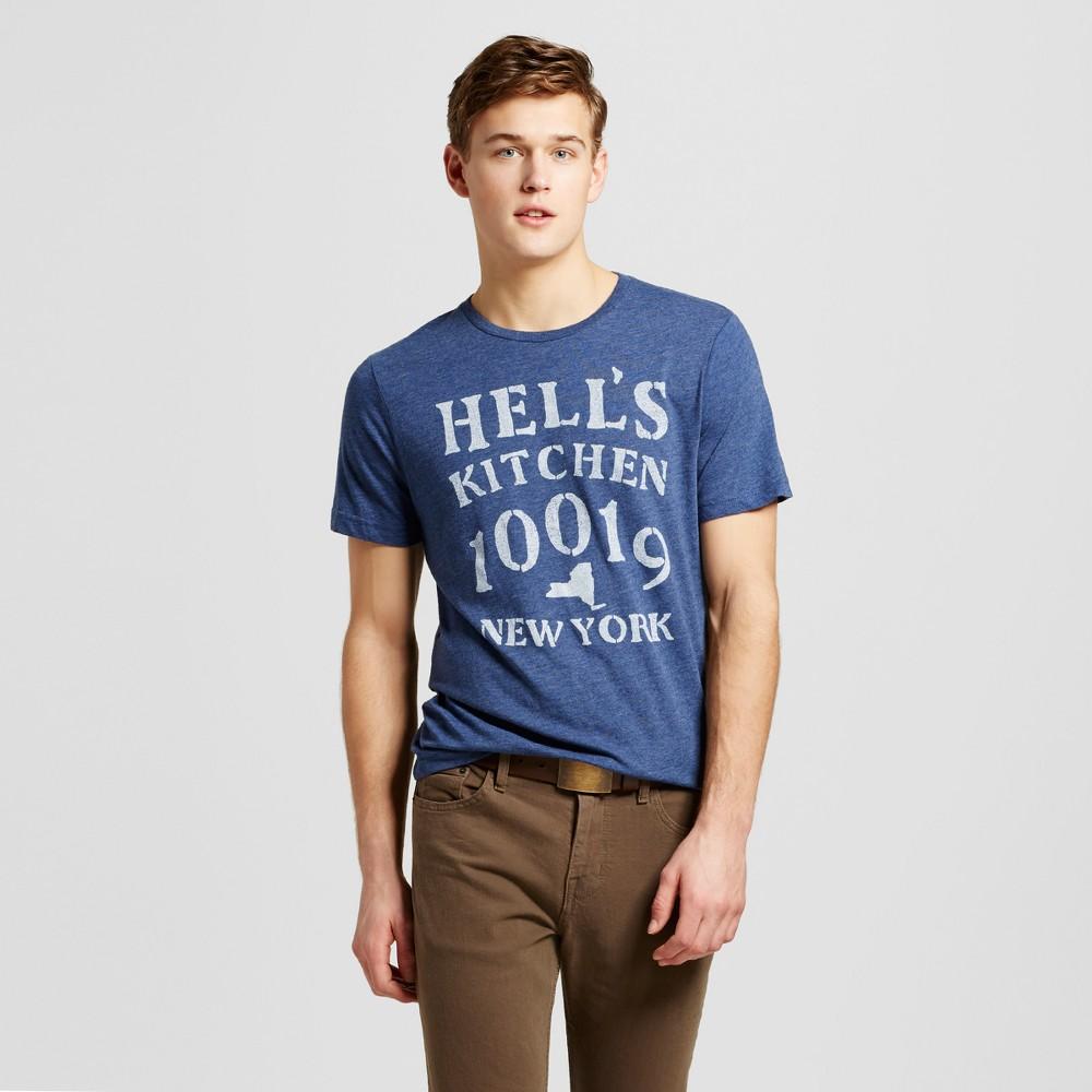 Mens New York Hells Kitchen T-Shirt S - Navy, Blue