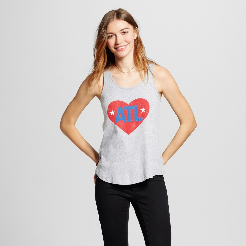 Womens Atlanta Atl Love Tank Top S - Heather Gray (Juniors)