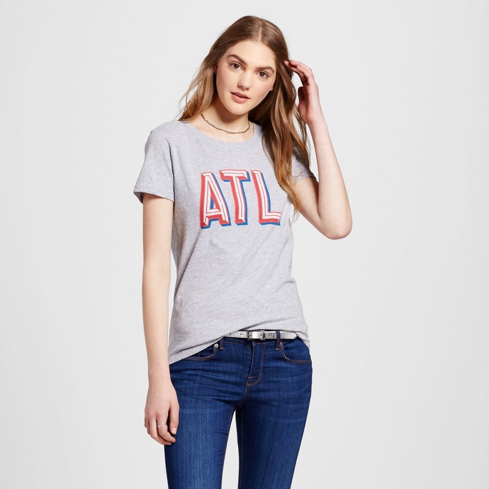 Womens Atlanta Atl T-Shirt XS - Heather Gray (Juniors)