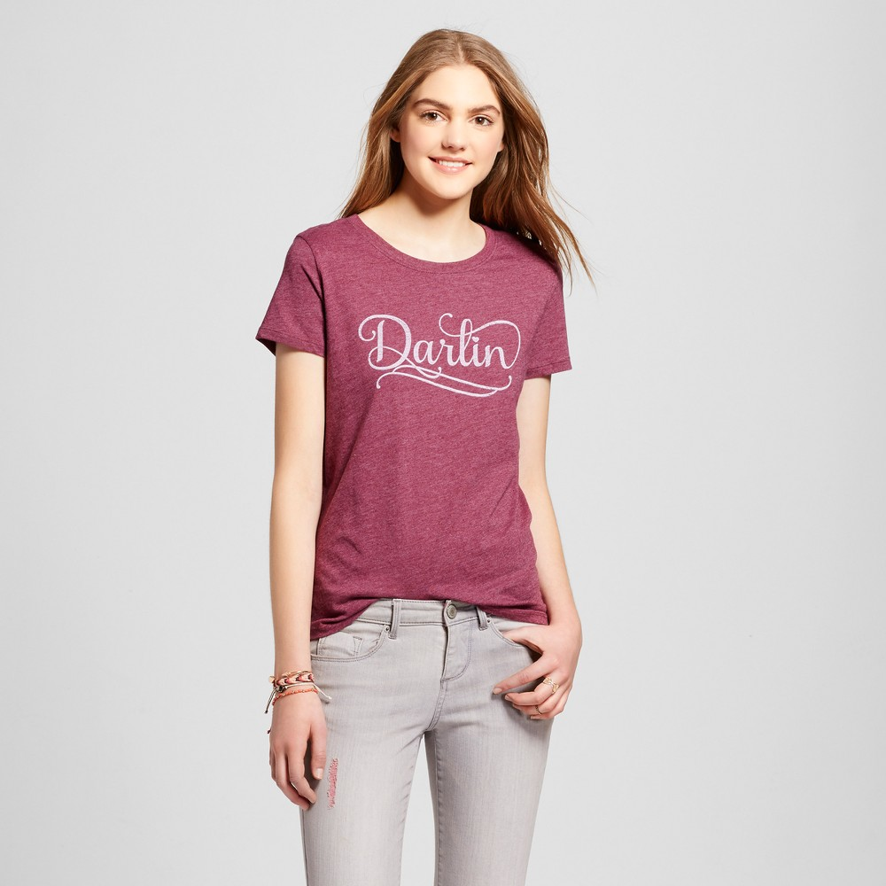Womens Atlanta Darlin T-Shirt XS - Burgundy (Juniors), Purple