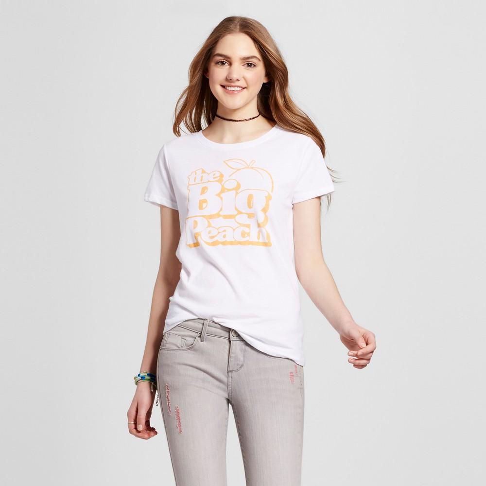 Womens Atlanta Big Peach T-Shirt M - White (Juniors)