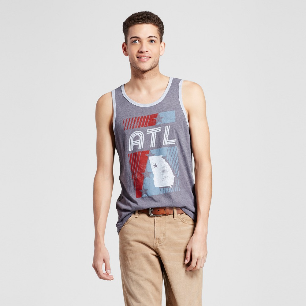 Mens Atlanta Ninety Six Tank Xxl - Charcoal Gray