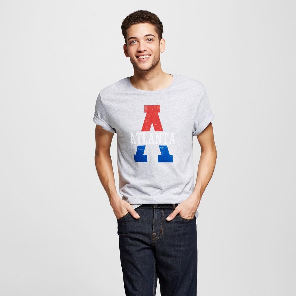 Mens Atlanta Big A T-Shirt L - Heather Gray