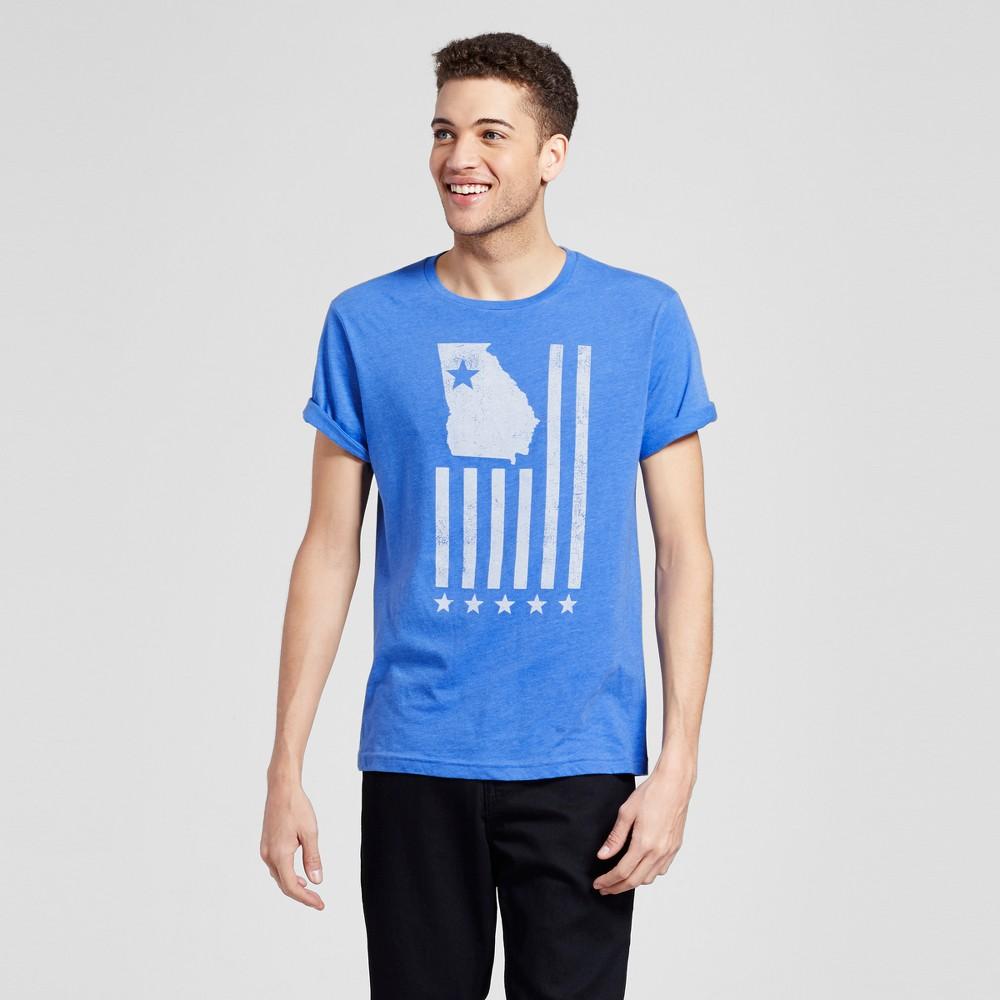 Mens Atlanta Union Flag T-Shirt Xxl - Blue