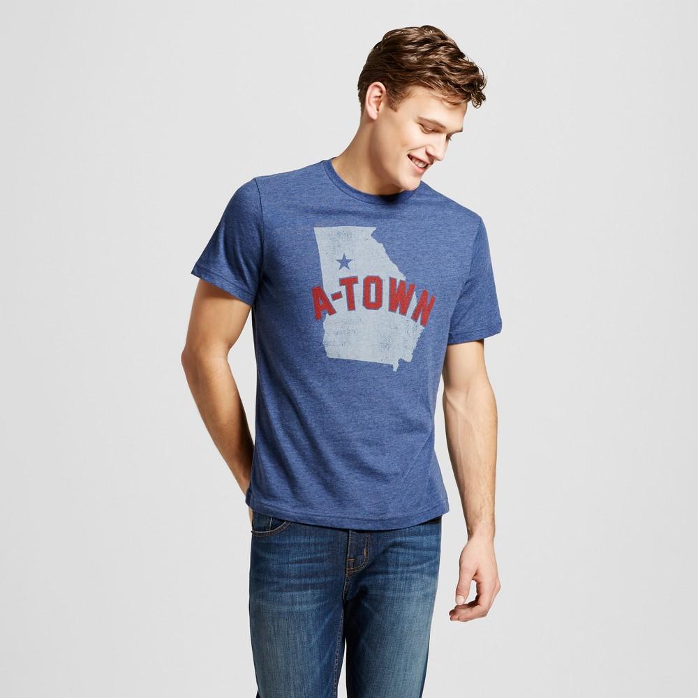 Mens Atlanta A Town State T-Shirt S - Navy, Blue