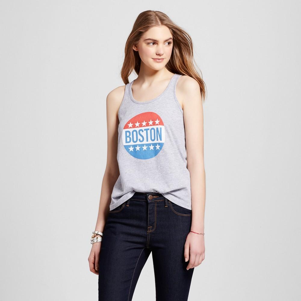 Womens Boston All American Tank Top XS - Heather Gray (Juniors)