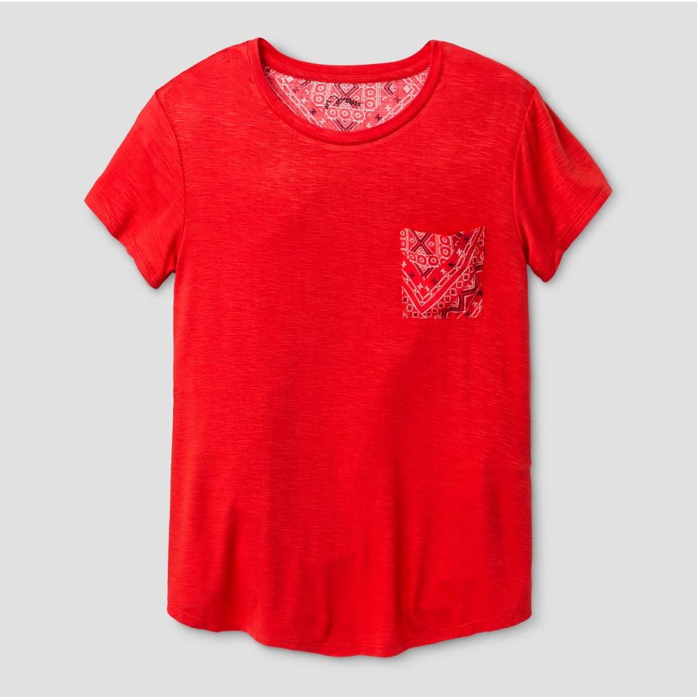 Girls Short Sleeve Bandana T-Shirt - Art Class Hibiscus XS, Pink