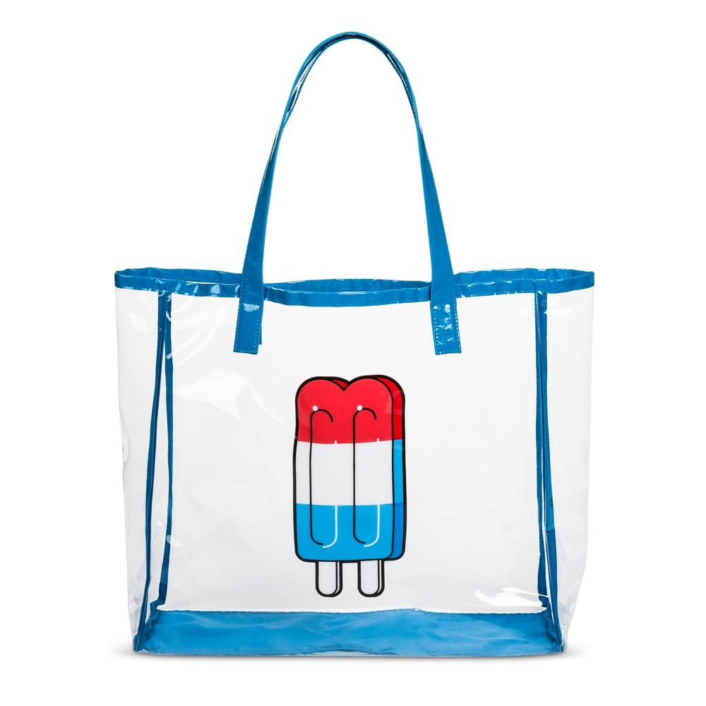 Poptimism! Womens Popsicle Print Jelly Tote Handbag - Mossimo Supply Co. Blue
