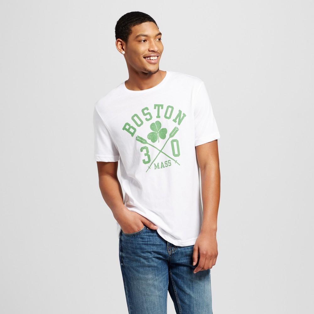 Mens Boston 30 Crew T-Shirt XL - White