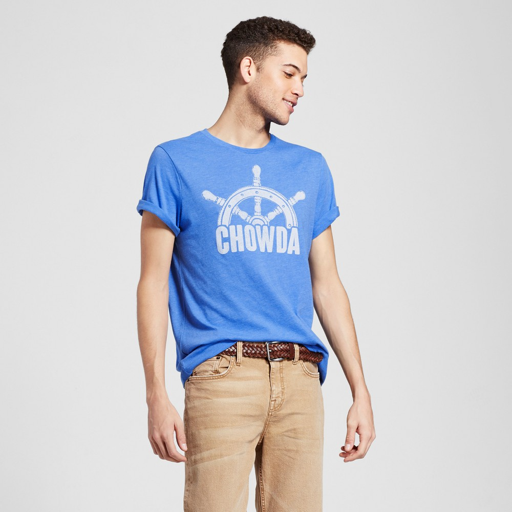 Mens Boston Chowda T-Shirt Xxl - Blue