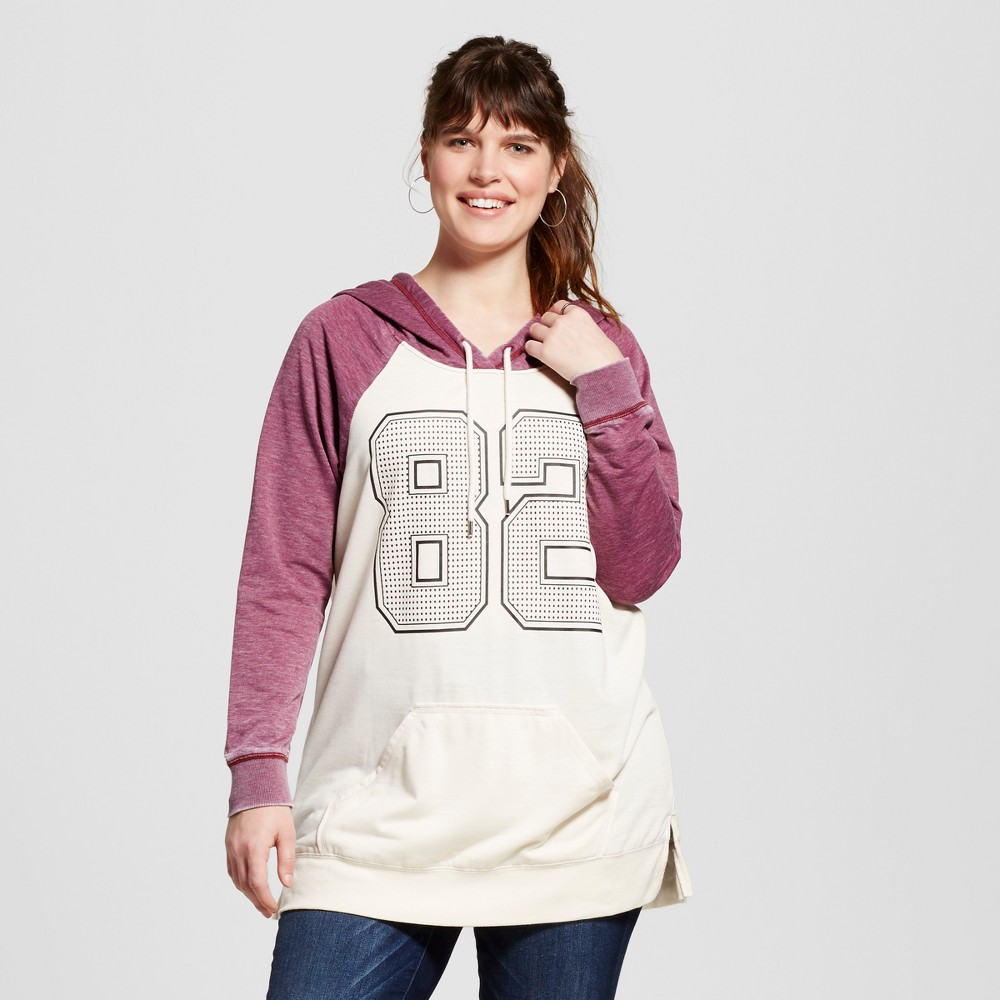 "Women's Plus Size Hooded ""82"" Sweatshirt White 2X – Miss Chievous"