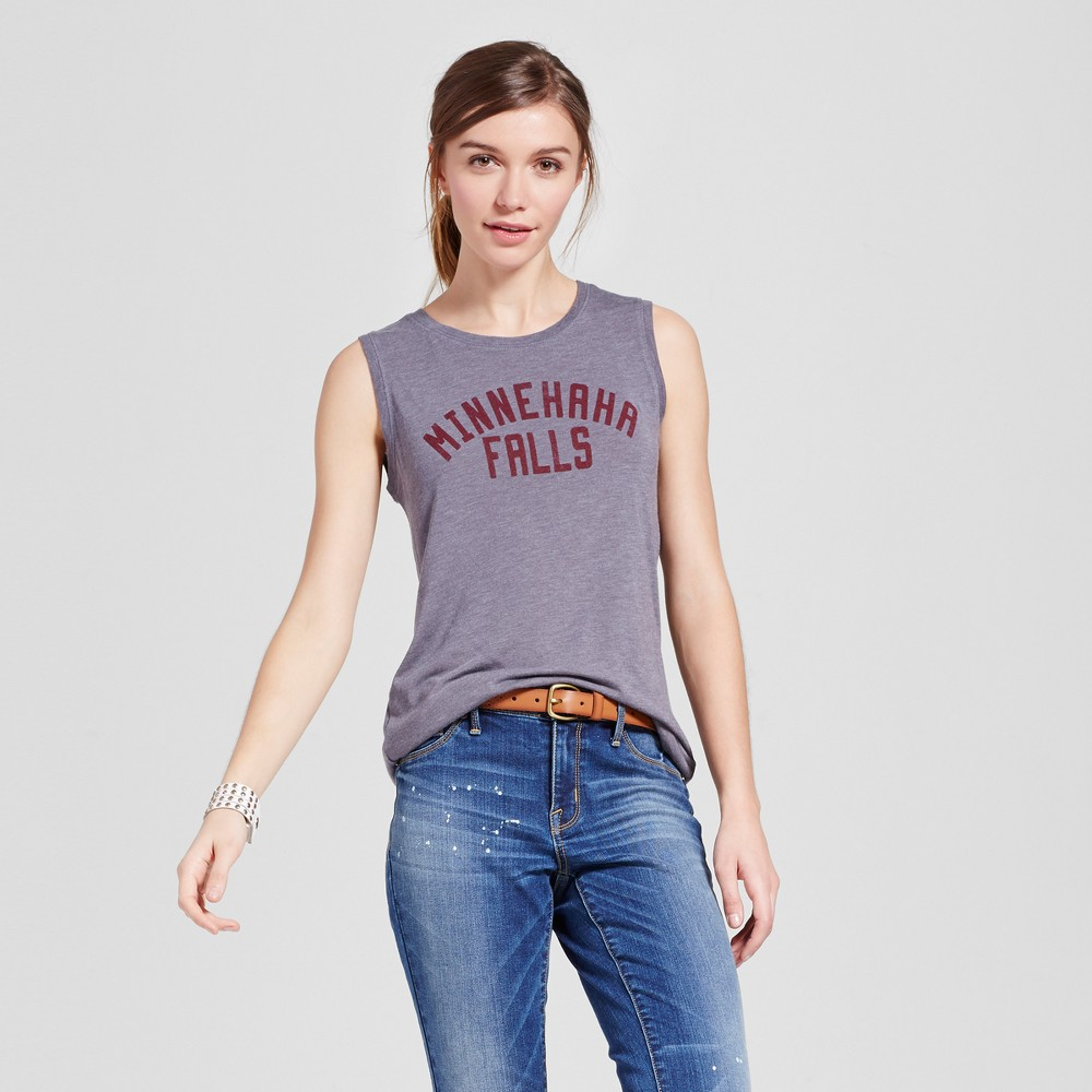 Womens Minneapolis Minnehaha Muscle Tank M - Charcoal Gray (Juniors)