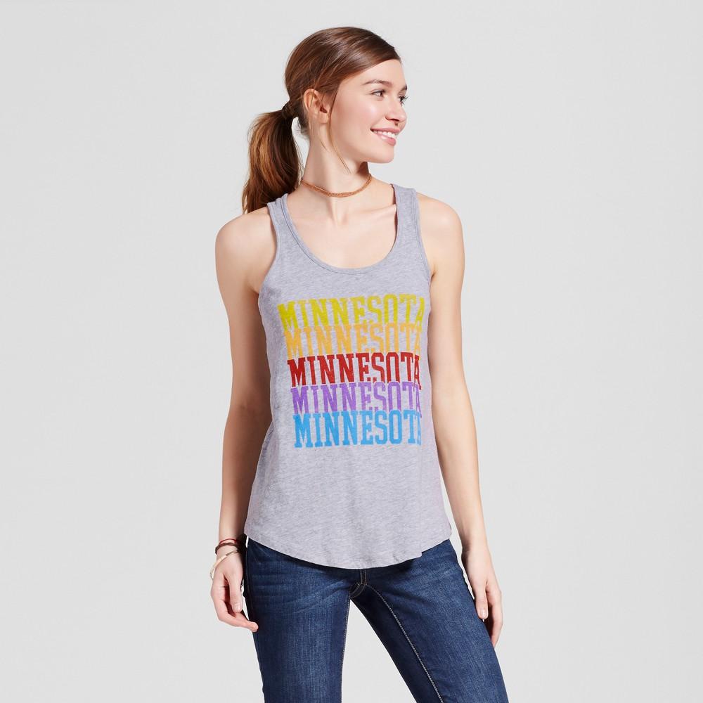 Womens Minneapolis Multi Tank L - Heather Gray (Juniors)