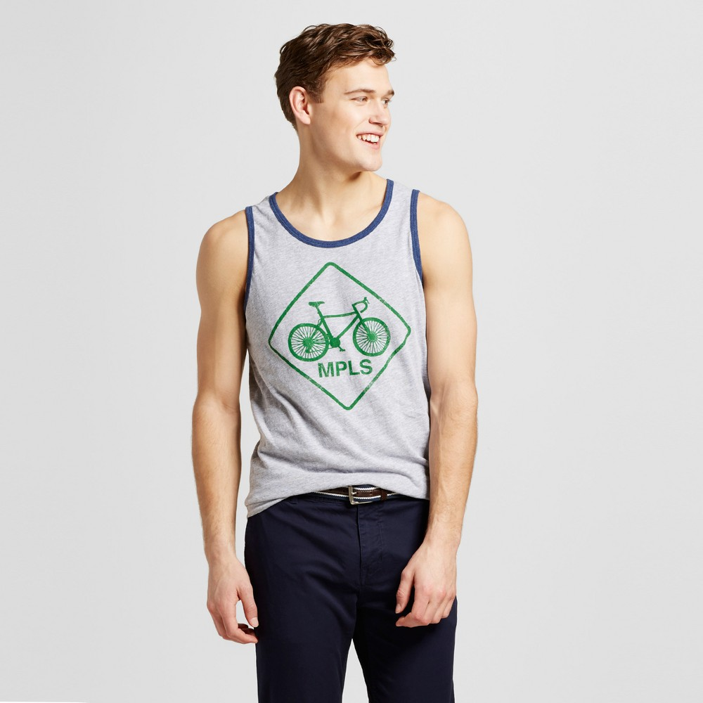 Mens Minneapolis Bike Mpls Tank S - Heather Gray