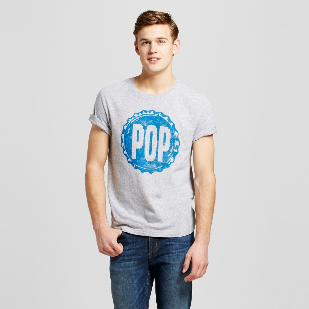 Mens Minneapolis Pop T-Shirt L - Heather Gray