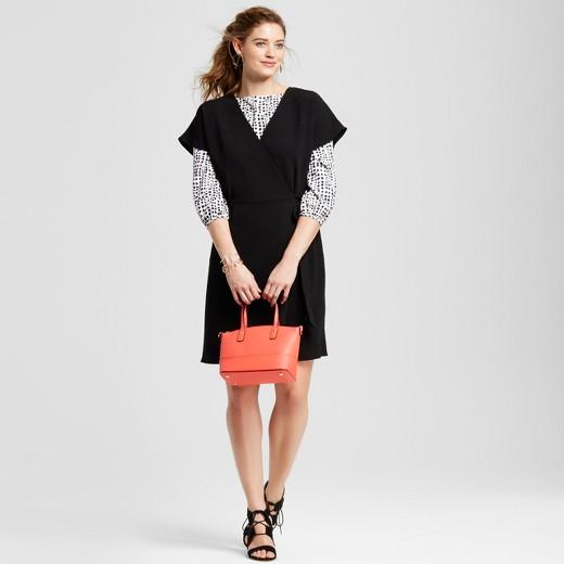 Women's Short Sleeve Woven Wrap Dress - LORAMENDI : Target