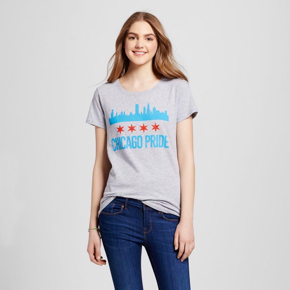 Womens Chicago Chicago Pride T-Shirt L - Heather Gray (Juniors)