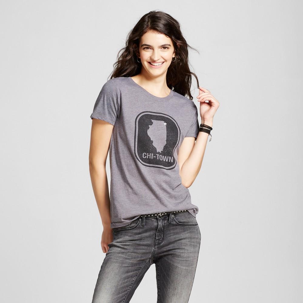 Womens Chicago Town Star T-Shirt XL - Charcoal Gray (Juniors)