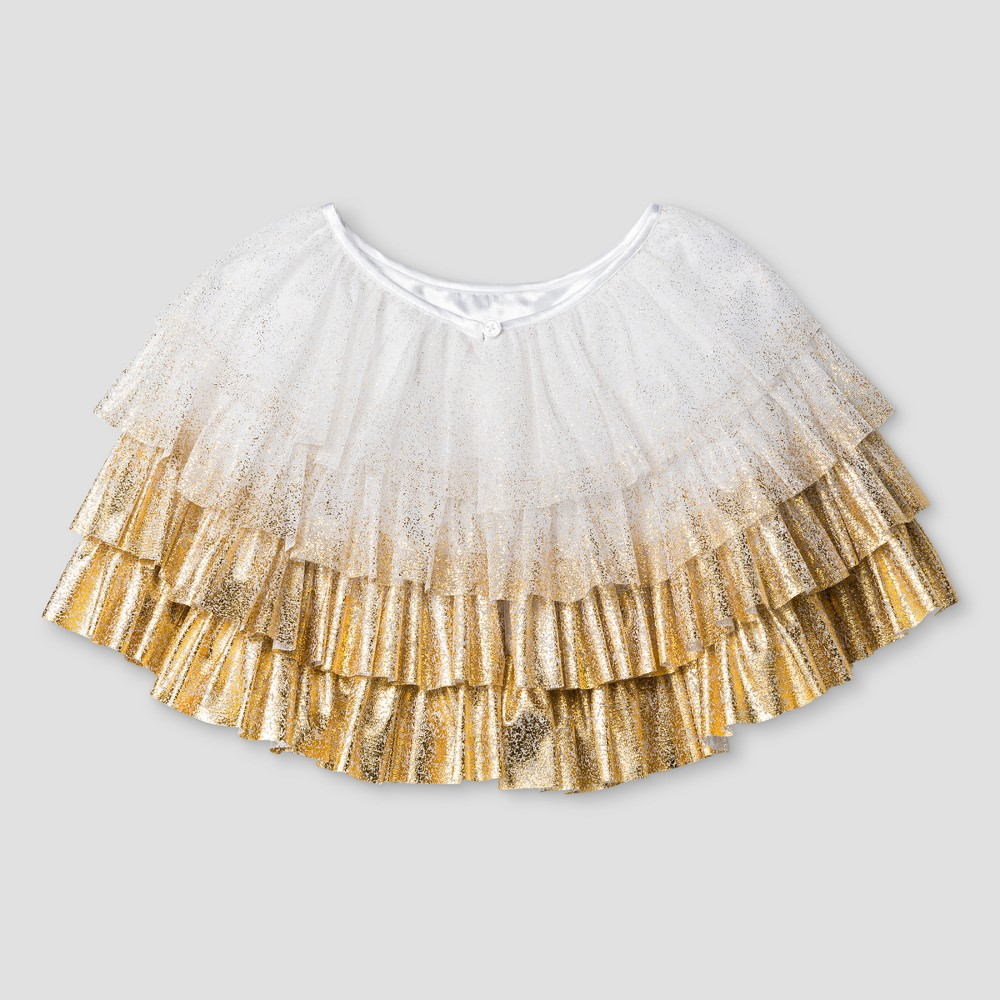 Girls Gold Foil Ruffle Caplet - Cat & Jack White L/XL