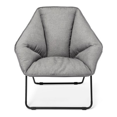 Hex Lounge Chair Gray with Black Legs - Room Essentials™