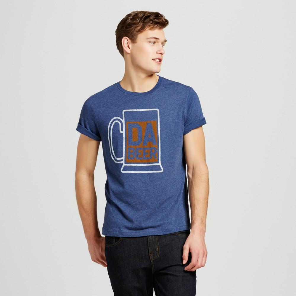 Mens Chicago Da Beer T-Shirt L - Navy, Blue