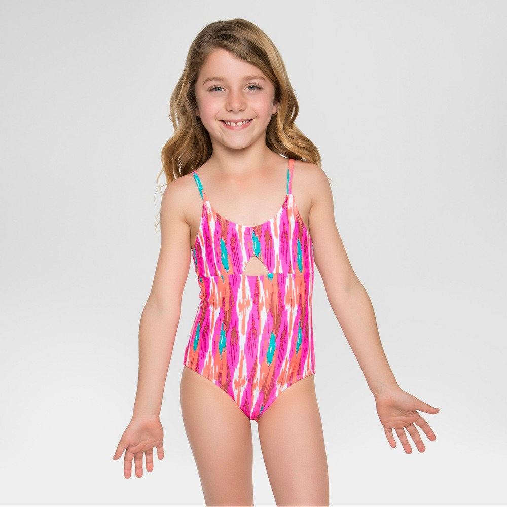 Cleobella Turquoise Girls One Piece Swimsuits - Pink S