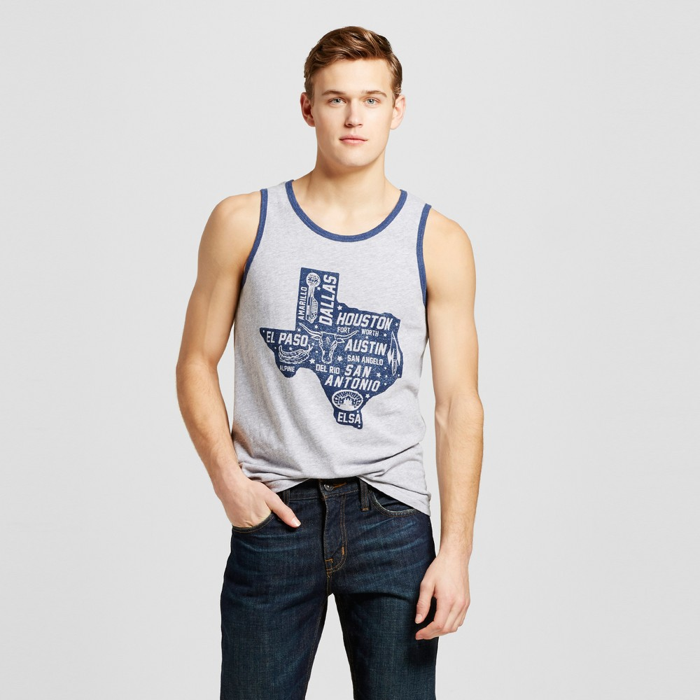 Mens Texas Statewide Tank S - Heather Gray
