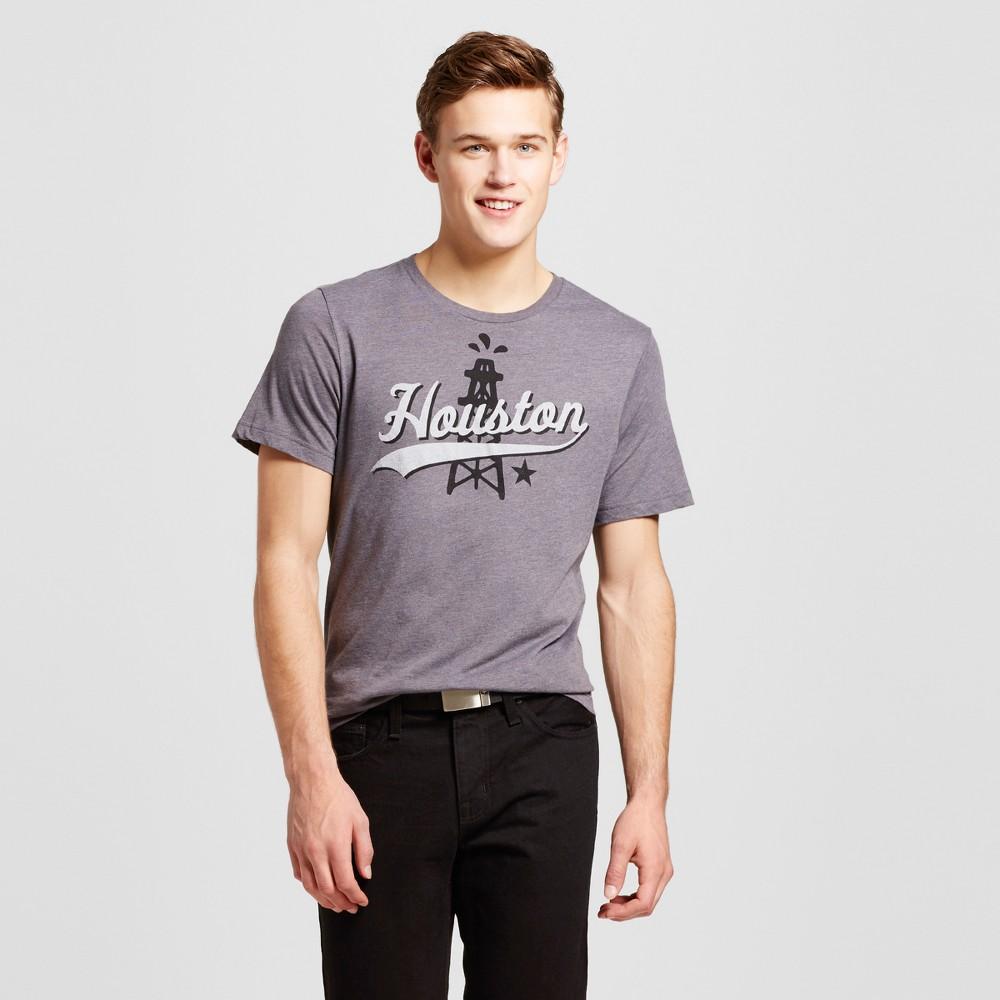 Mens Texas Houston Strike It Rich T-Shirt S - Charcoal Gray