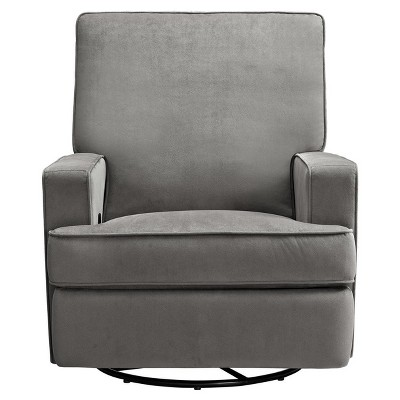 Baby Relax Addison Swivel Gliding Recliner - Gray