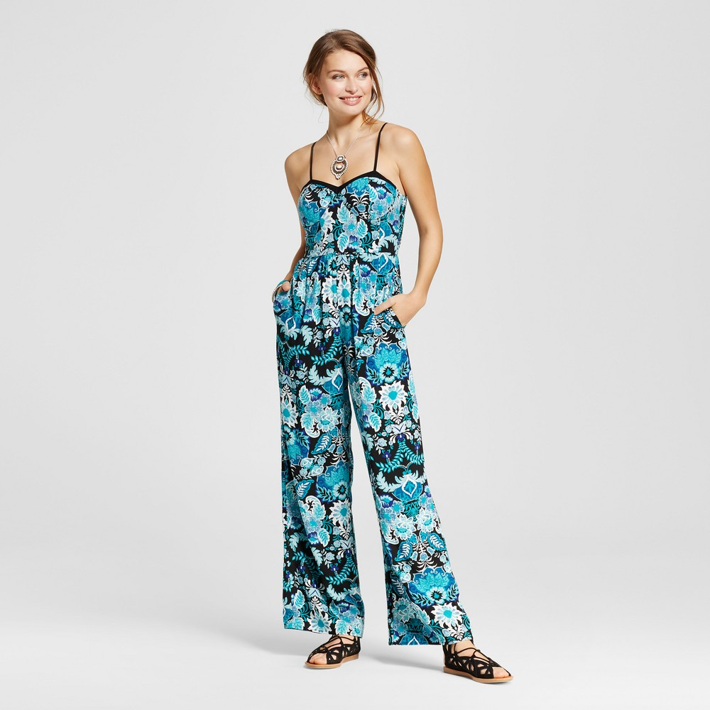 Womens Bra Cup Jumpsuit - Xhilaration (Juniors) Teal (Blue) L