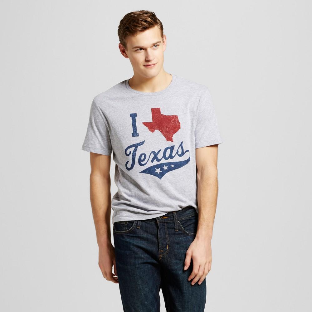 Mens Texas Proud T-Shirt L - Heather Gray