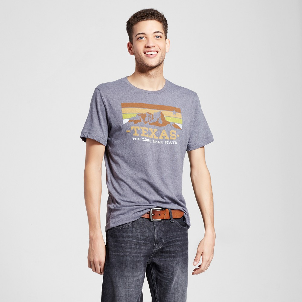 Mens Texas Guadalupe T-Shirt L - Charcoal Gray