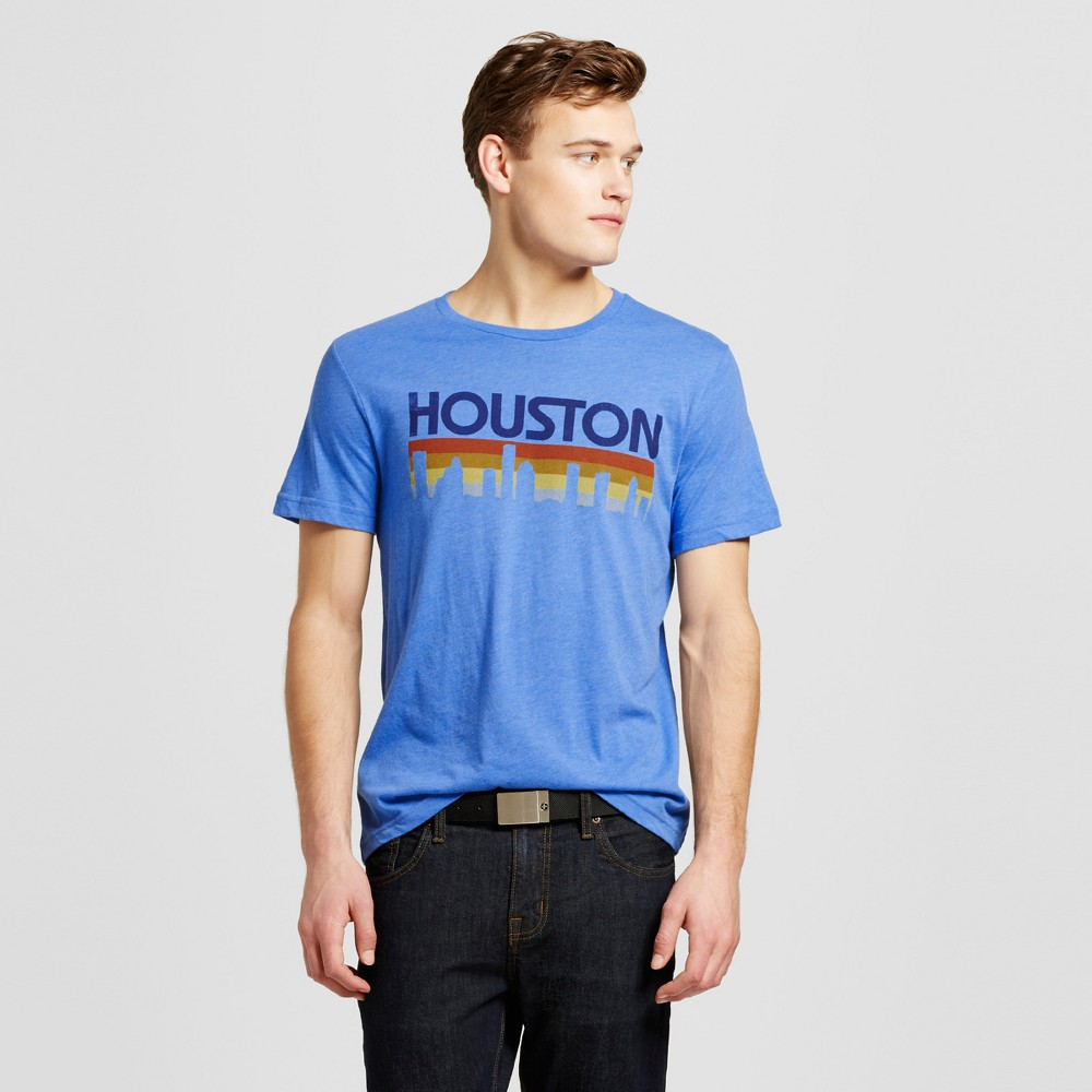 Mens Texas Houston Horizon T-Shirt Xxl - Blue