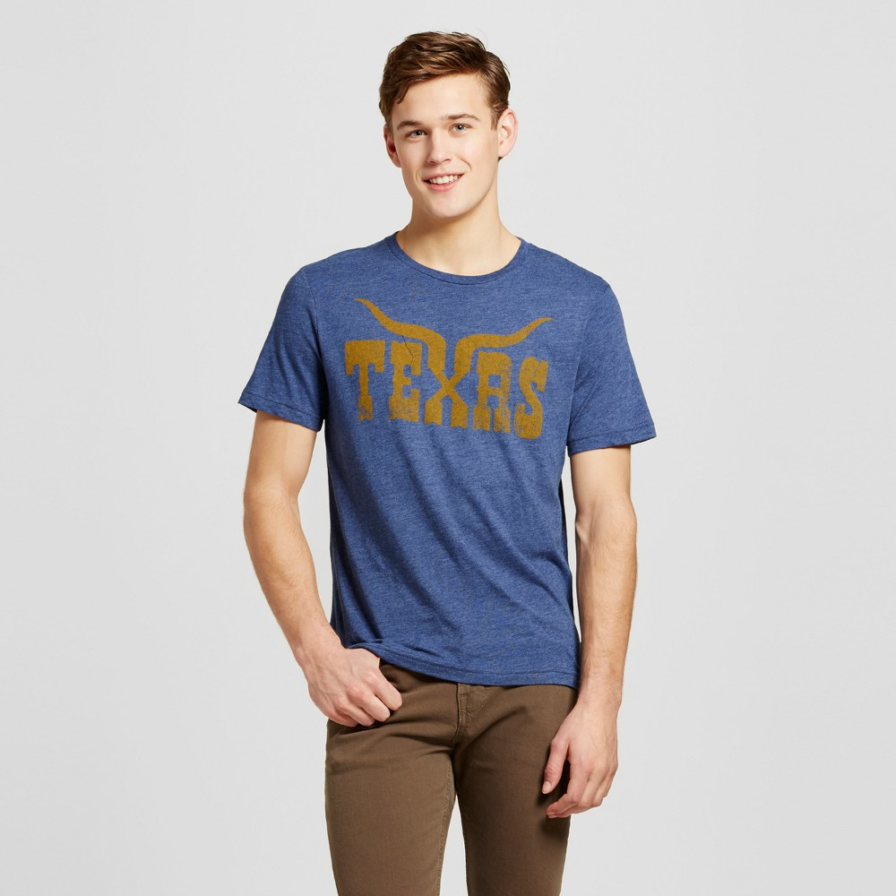 Mens Texas Longhorn T-Shirt Navy L - Awake, Blue