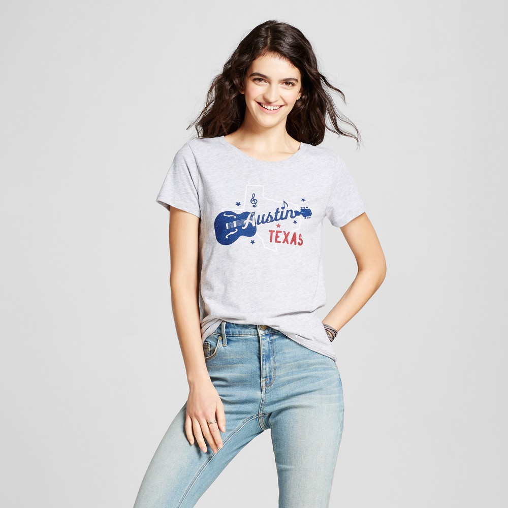 Womens Texas Austin TX T-Shirt M - Heather Gray (Juniors)