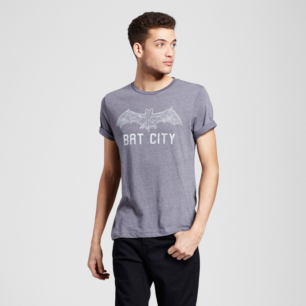 Mens Texas Austin Bat City T-Shirt L - Charcoal Gray