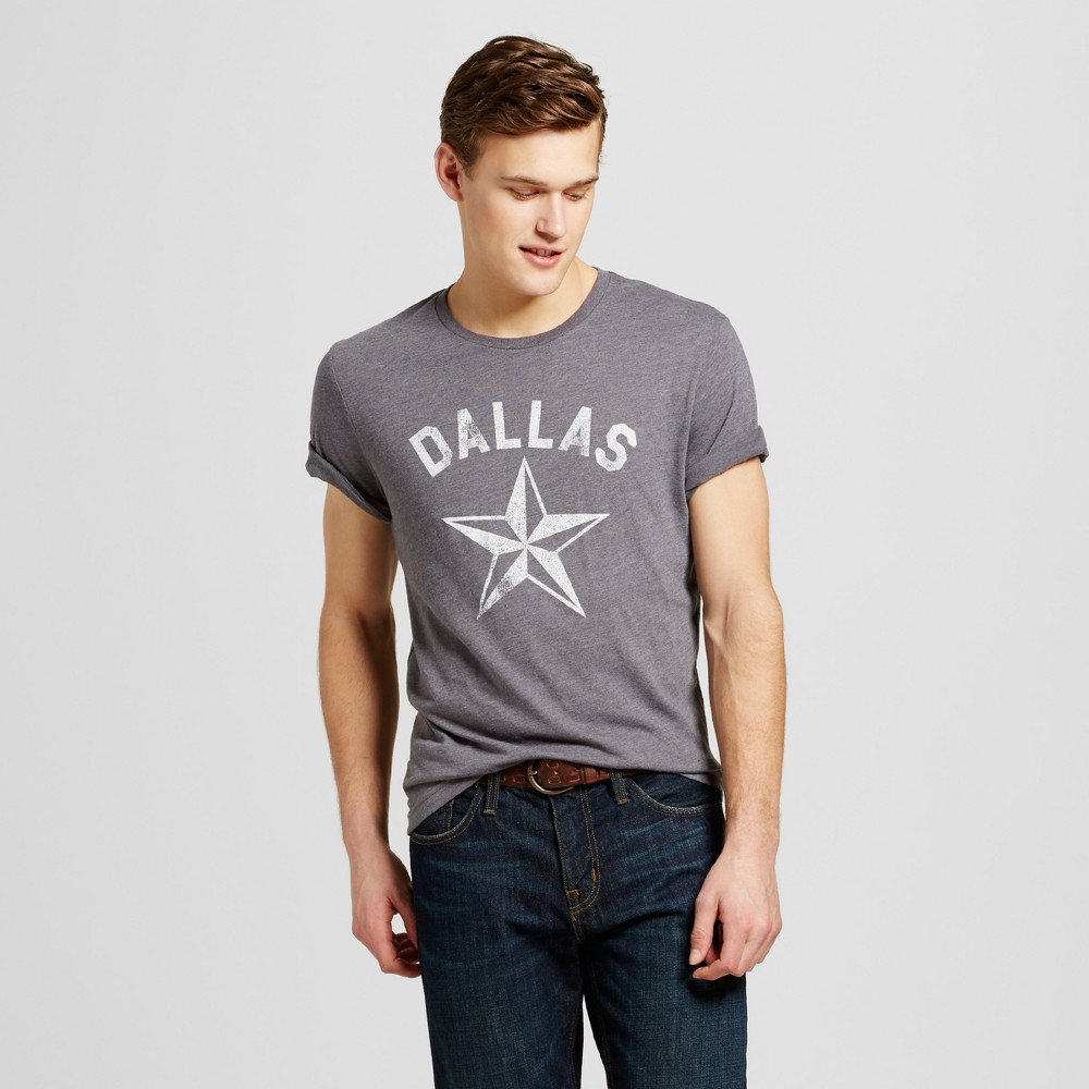 Mens Texas Dallas Star T-Shirt L - Charcoal Gray