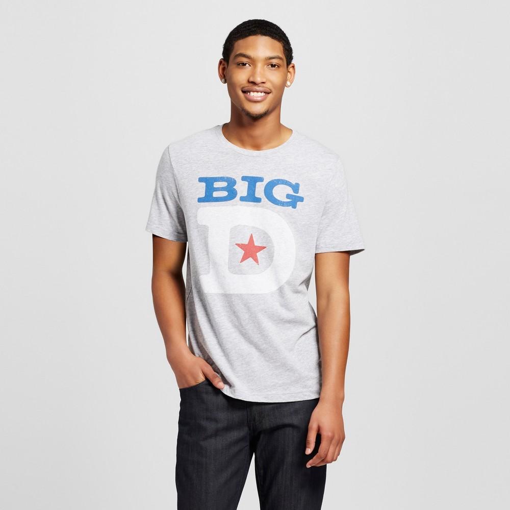 Mens Texas Dallas Big D T-Shirt M - Heather Gray