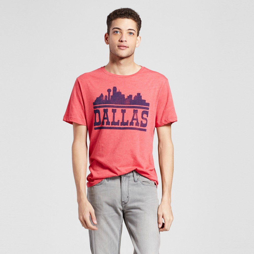Mens Texas Dallas D State T-Shirt Xxl - Red