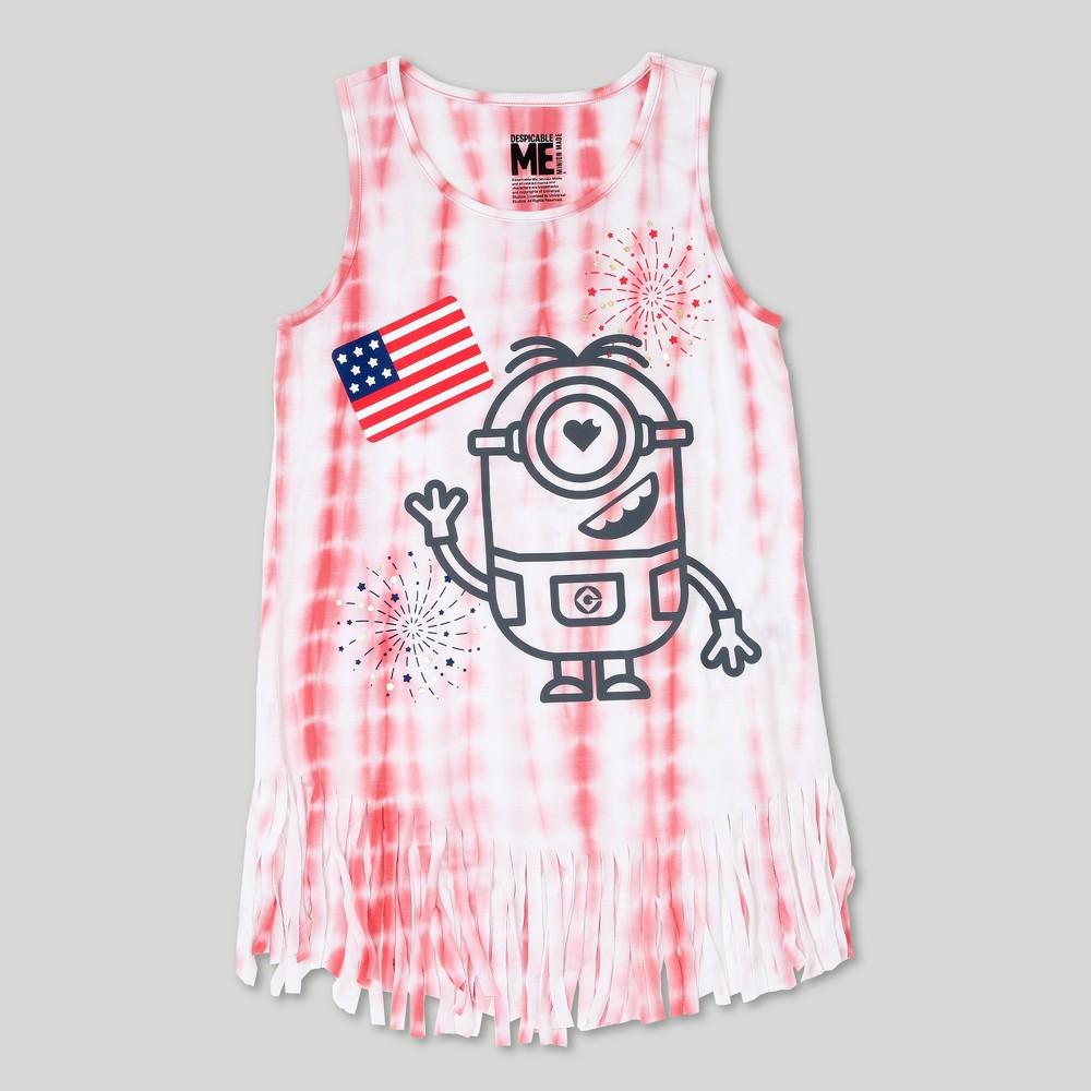 Girls Despicable Me Minions Tank Top - Pink XS, Size: XS (4-5)