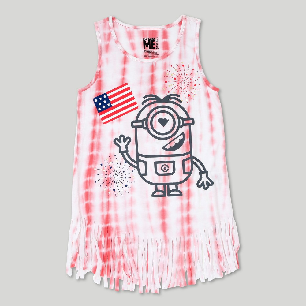 Girls Despicable Me Minions Tank Top - Pink S, Size: S (6-6X)